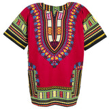 Burgundy African Dashiki Shirt