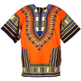 Orange African Dashiki Shirt