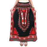 Black and Red African Dashiki Skirt