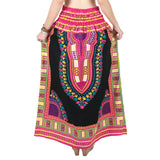 Black and Pink Colorful African Dashiki Skirt