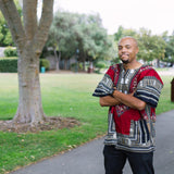 Carmine Red African Dashiki Shirt