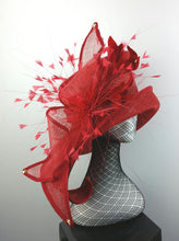 Winter Red Sculptured Hat
