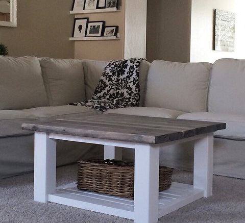 Square Farmhouse Coffee Table ***FREE SHIPPING***