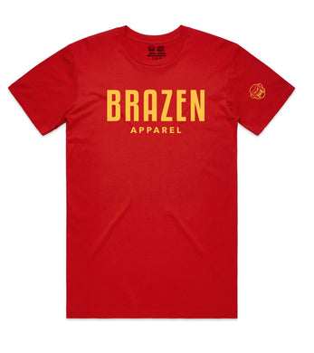 Bold Tee II - Red/Yellow