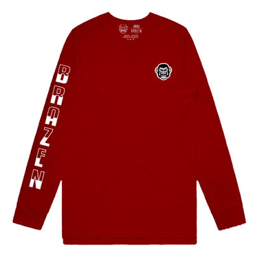 50/50 L/S Red Tee