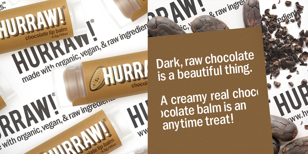 Hurraw! Chocolate Lip Balm Banner