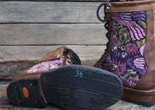 Load image into Gallery viewer, Size 35 Wanderer Boots Mauve Birds