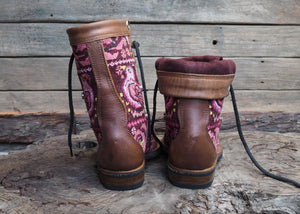 Size 35 Gypsy Boots Pink Floral