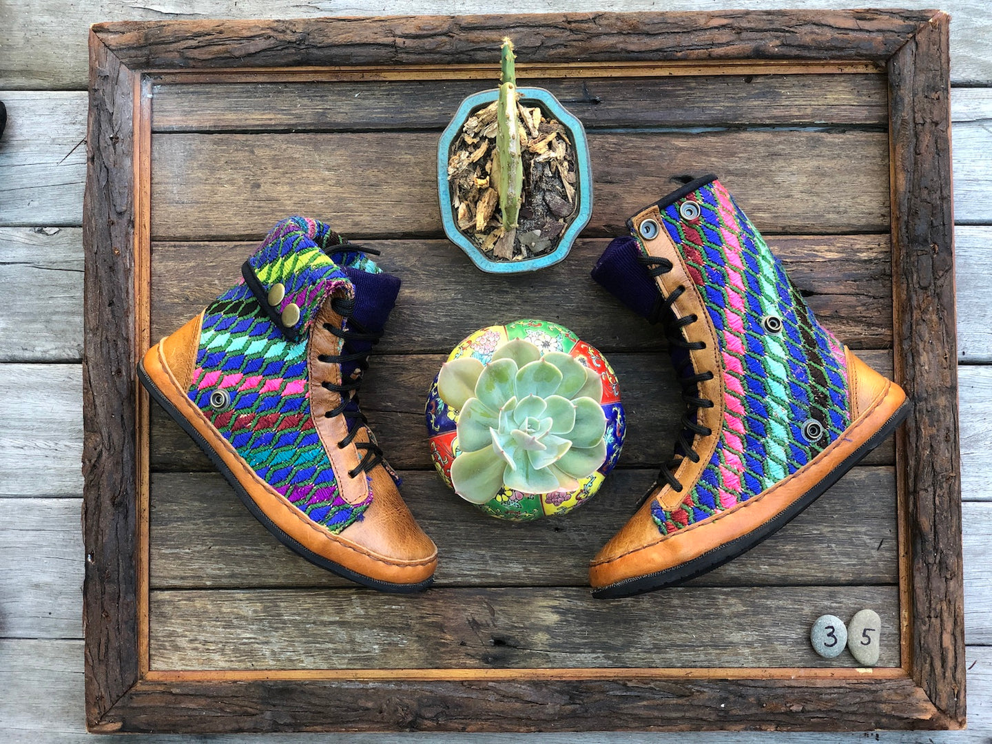 Size 35 - Fold down Desert Boots - Rainbow Scales