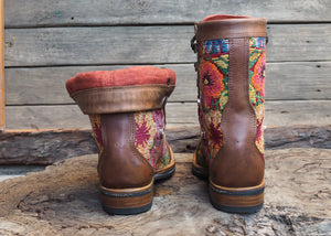 Size 36 Gypsy Boots Floral Embroidery