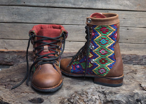Size 37 Gypsy Boots Colourful