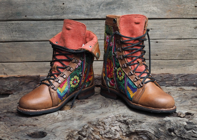 Size 38 Gypsy Boots Bright Patterns