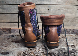 Size 38 Gypsy Boots Purple Patterns