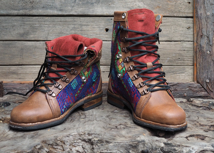 Size 38 Gypsy Boots Bright Diamond Patterns