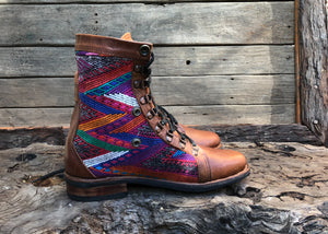 Size 41 Gypsy Boots Rainbow Patterns