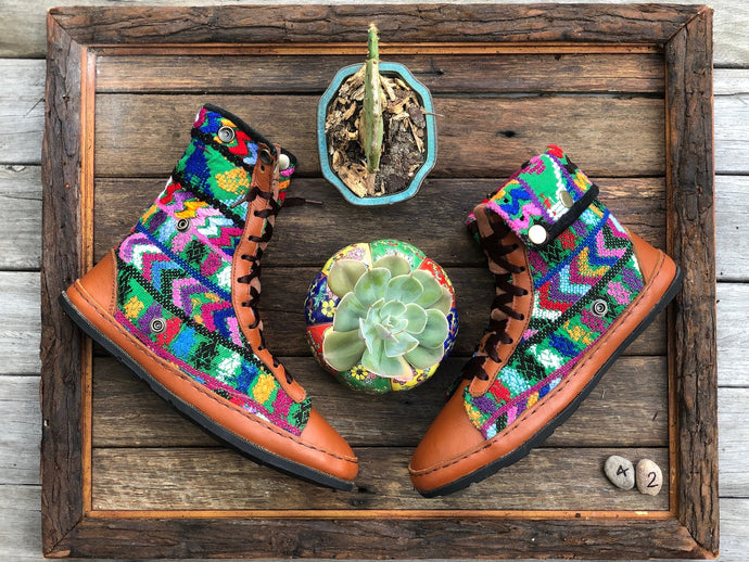 Size 42 - Fold down Desert Boots Multi Coloured Arrows