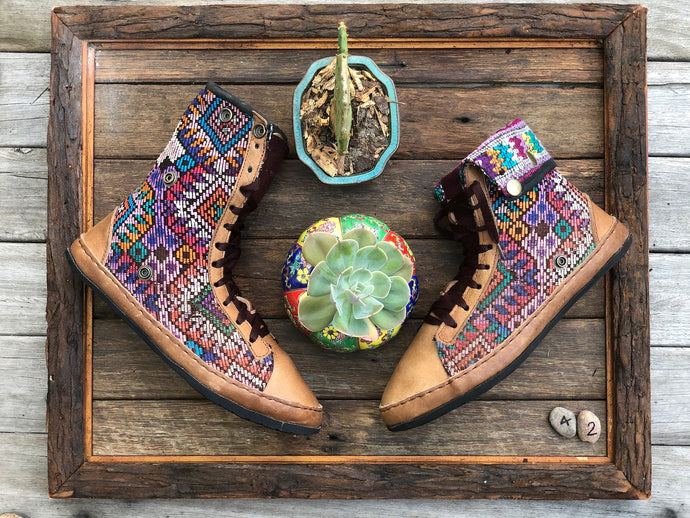 Size 42 - Fold down Desert Boots Rainbow Patterned
