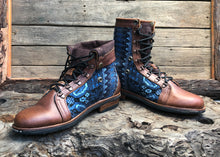 Load image into Gallery viewer, Size 44 Wanderer Boots Blue ZigZag