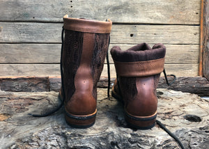 Size 44 Wanderer Boots Brown Embroidery