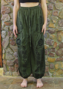 Aladdin Pants with Pockets - Forest Green