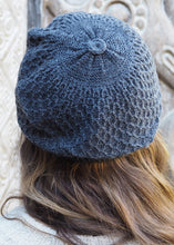 Load image into Gallery viewer, Grey Bolivian Alpaca Knitted Beanie