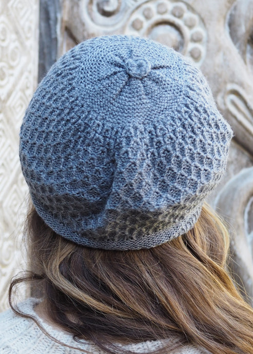Light Grey Bolivian Alpaca Knitted Beanie