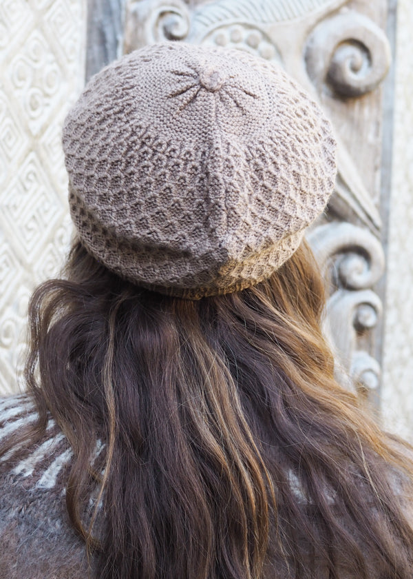 Light Brown Bolivian Alpaca Knitted Beanie