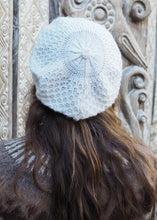 Load image into Gallery viewer, White Bolivian Alpaca Knitted Beanie