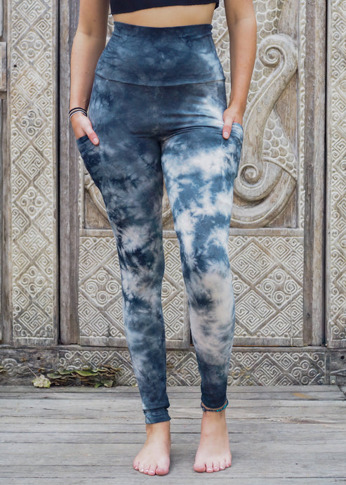 Pocket Leggings - Blue Stonewash