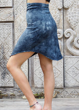 Load image into Gallery viewer, Blue Stonewash Stretchy Skirt