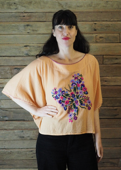 Butterfly Top - Brights on Apricot