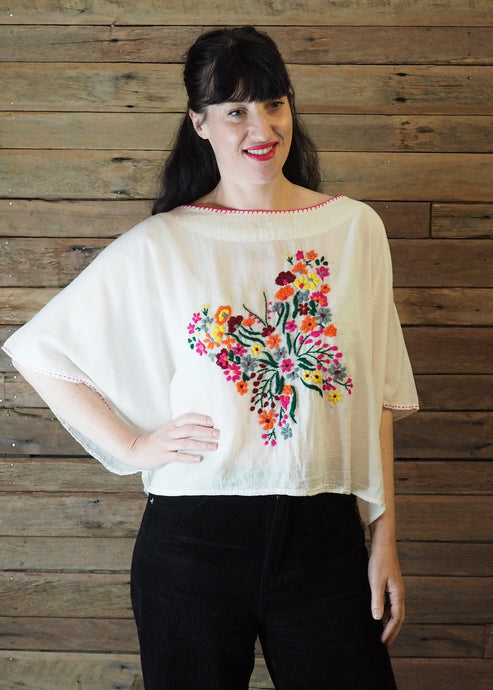 Butterfly Top - Brights on White
