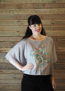 Butterfly Top - Pastels on Taupe