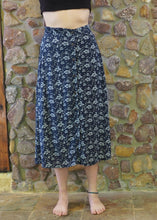 Load image into Gallery viewer, Button-up Long Skirt - Blue Floral