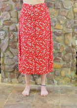 Load image into Gallery viewer, Button-up Long Skirt - Red and White