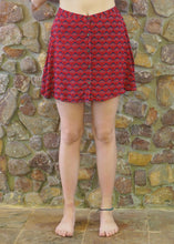 Load image into Gallery viewer, Button-up Mini Skirt - Red Fans