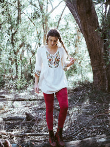 Wildflower Blouse White