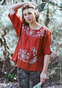 Frida Flow Top Rust