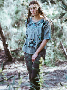 Frida Flow Top Blue