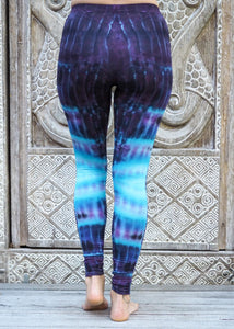 Tie Dye Leggings - Purple River