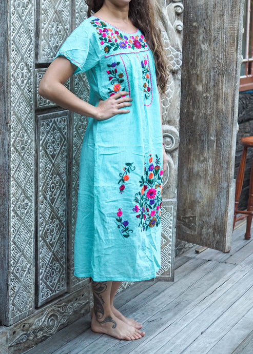 Long Frida Dress Summer Sky Blue
