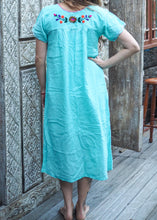 Load image into Gallery viewer, Long Frida Dress Summer Sky Blue