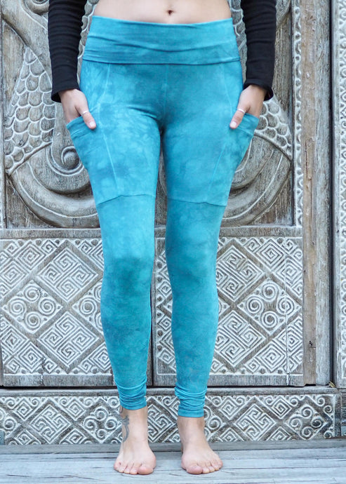 Pocket Leggings - Sky Blue