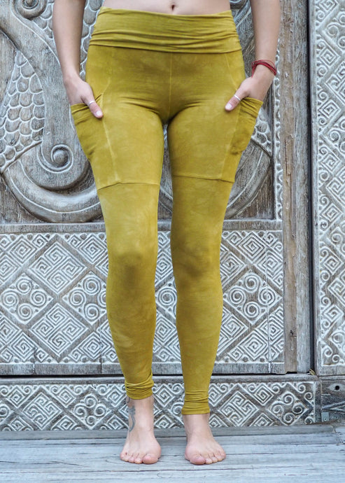 Pocket Leggings - Mustard