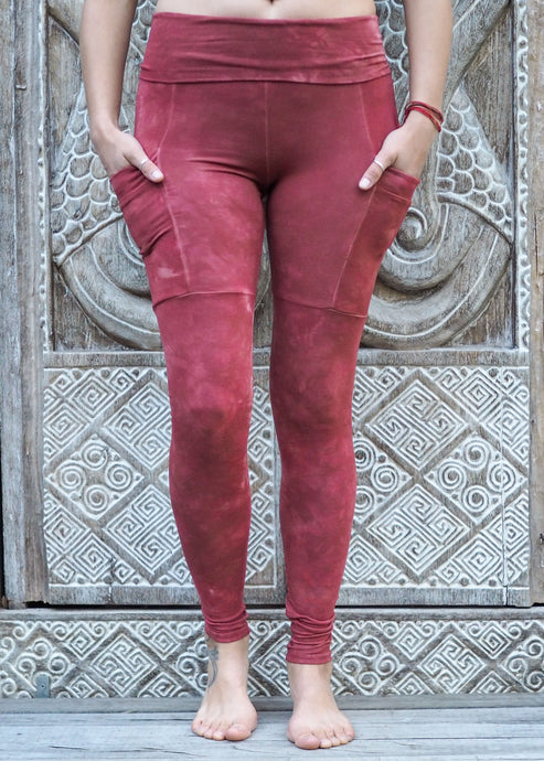 Pocket Leggings - Burnt Orange