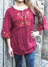 Load image into Gallery viewer, Embroidered Peasant Blouse Autumn