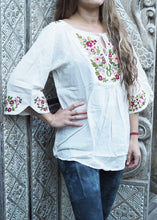 Load image into Gallery viewer, Wildflower Blouse Floral on White