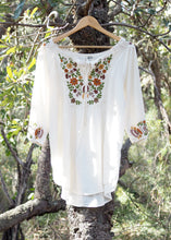 Load image into Gallery viewer, Wildflower Blouse White