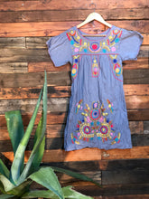 Load image into Gallery viewer, Little Frida shift Dress- blue grey
