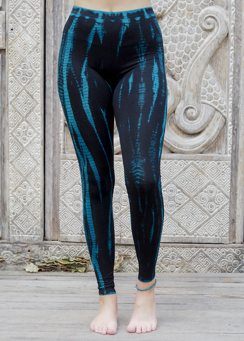 Tie dye Leggings- Icicle Electric Blue